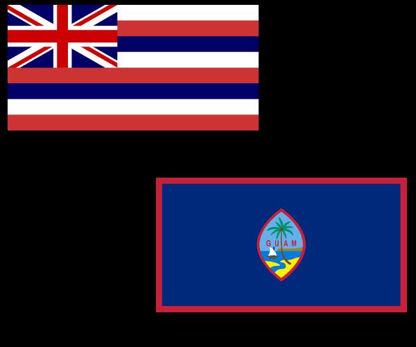 ハワイ、グアム 旗
